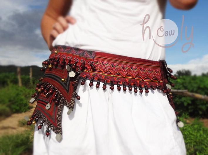 Handmade Vintage Hmong Hilltribe Belt Bag