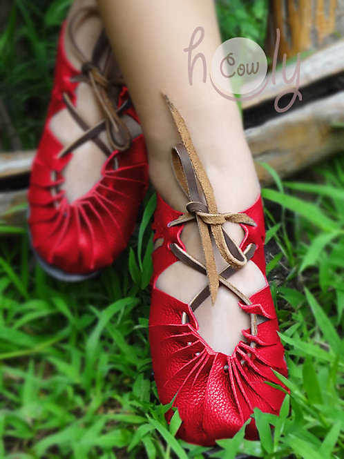 """""""Sexy"""" Red Leather Sandals"""