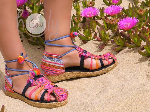 Colorful Tribal Vegan Sandals