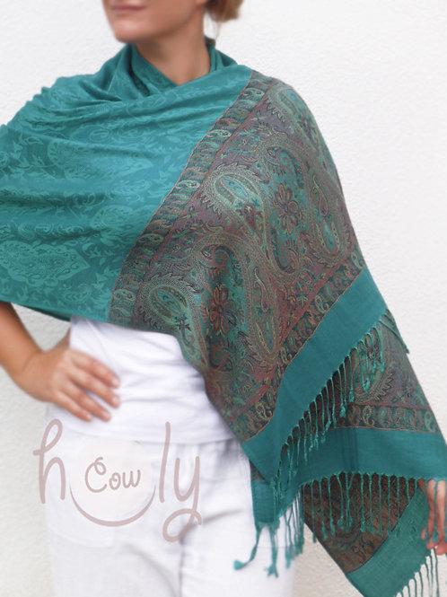 Turquoise Pashmina Scarf / Shawl
