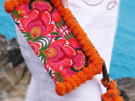 Amazing One Off Orange Tribal Wristlet