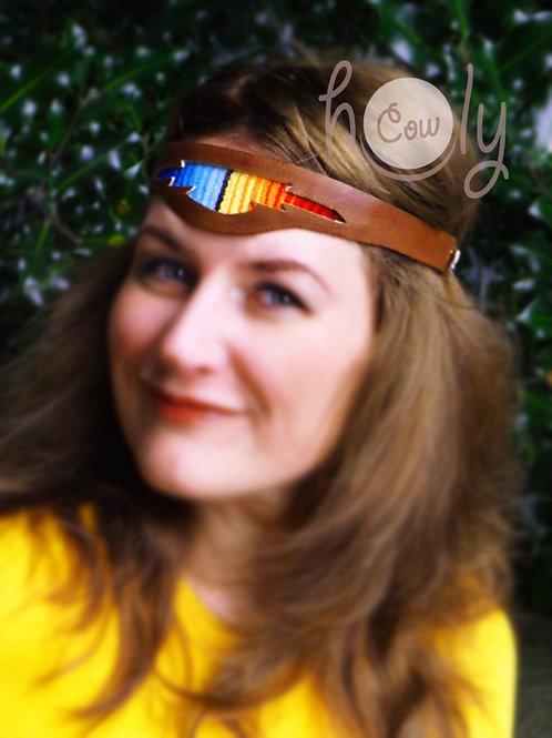 Handmade Leather Serape Headband