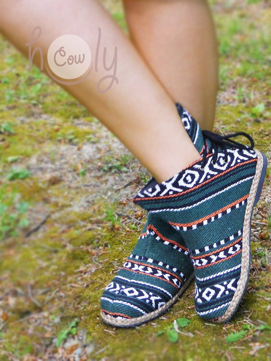 Women's Tribal Vegan Ankle Boots