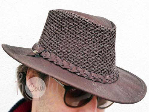 Dark Brown Cork Hat With Mesh