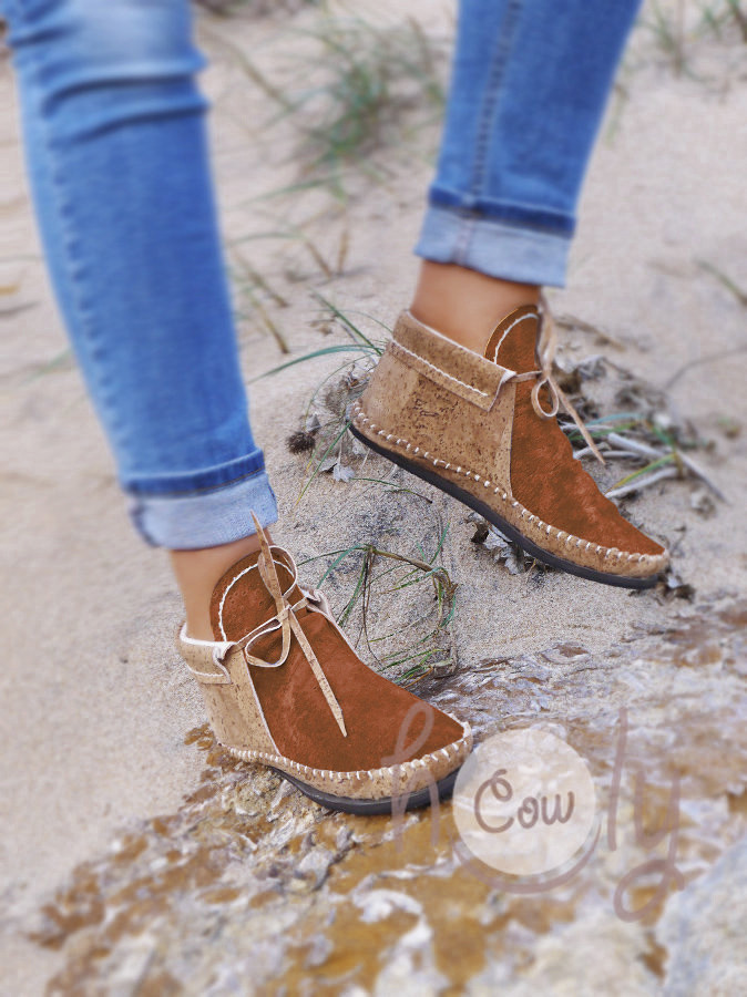 Hand Stitched Eco Friendly Vegan Moccasins Made From Cork