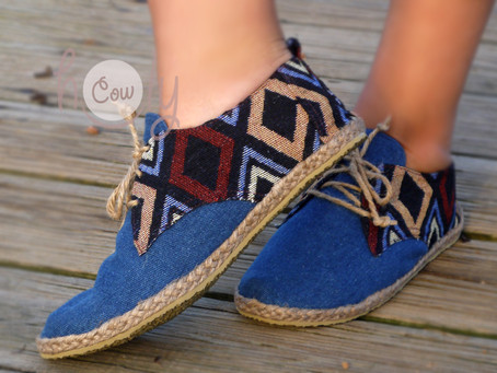Unleash your bohemian soul with these cotton tribal shoes!