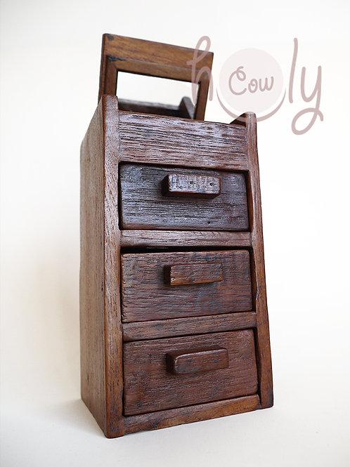 Reclaimed Wooden Teak Jewellery Box