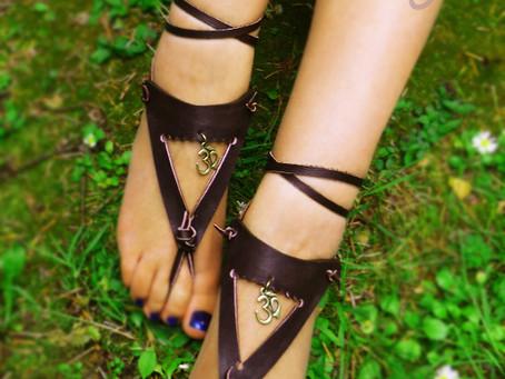 Special Handmade Barefoot OM Sandals
