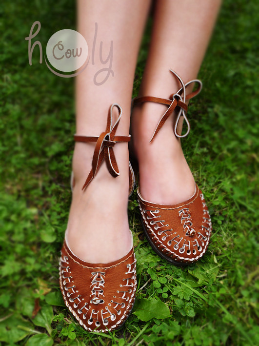 New stylish 100% Handmade Brown Leather Sandals