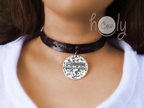 Longhorn & Arrow Pendant Necklace