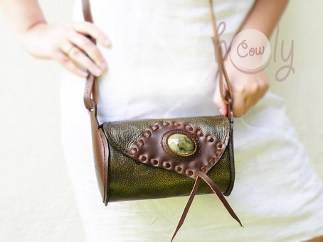 Unique Funky Space Shoulder Bag With Gemstone