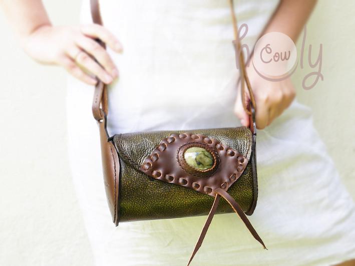 Funky Space Shoulder Bag With Gemstone