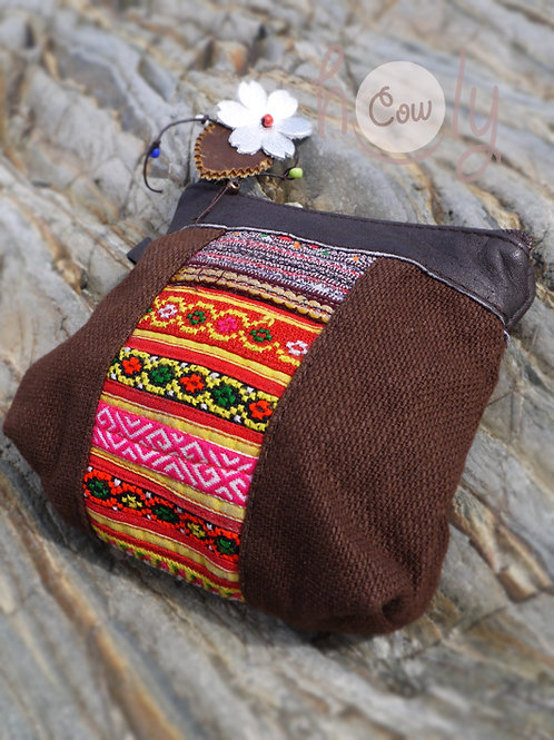 Brown and Red Tribal Wallet