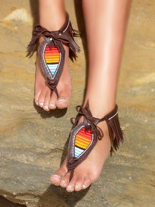 Handmade Serape Barefoot Sandals
