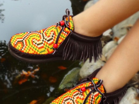 Funky 100% Handmade Hill Tribe Leather Inca Boots