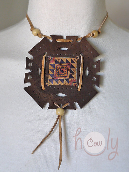 Handmade Eco Friendly Tribal Cork Necklace