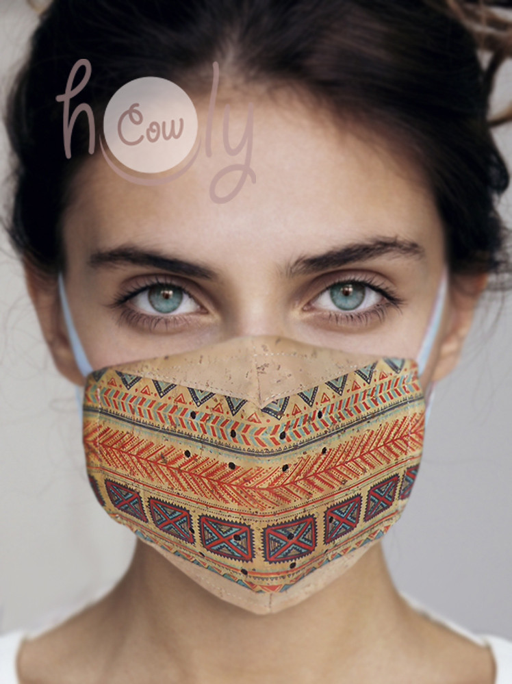 New eco friendly reusable CORK FACE MASK with FILTERS