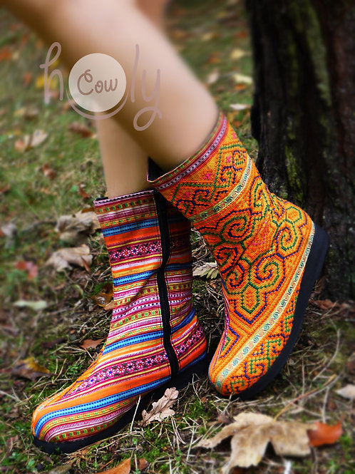 Colorful Tribal Vegan Boots