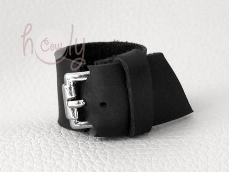 New Black Boho Leather Ring