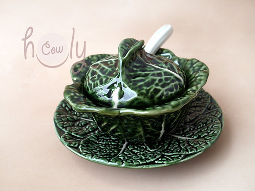 Handmade Ceramic Cabbage Leaf Bowl