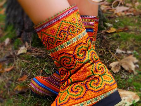 New Orange Women's Tribal Vegan Boots