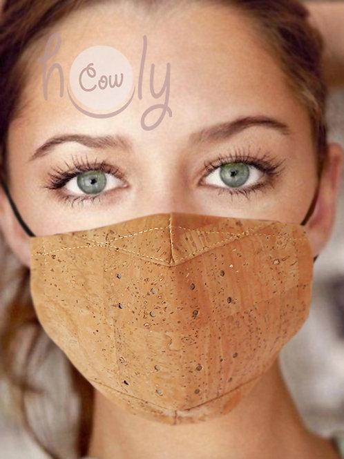 Natural Reusable Cork Face Mask