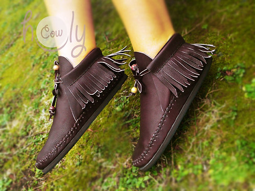 Funky Brown Leather Inca Boots