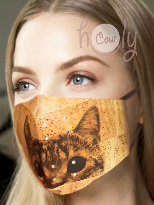 Cat Reusable Cork Face Mask