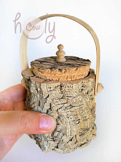 Small Eco Friendly Cork Storage Box