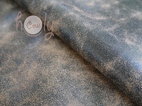 Genuine Black Cracked Cow Leather