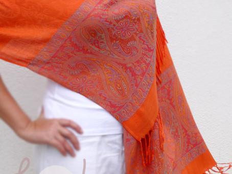 New Orange Pashmina Scarf