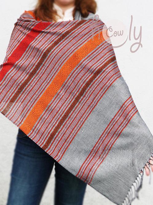 Grey Silk & Cotton Scarf / Shawl