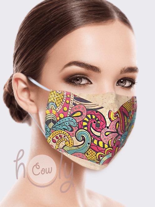 Tribal Reusable Cork Face Mask