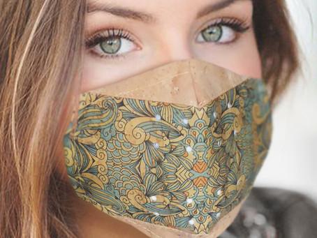Cork Face Masks! More Unique Designs Available At HolyCowChic!