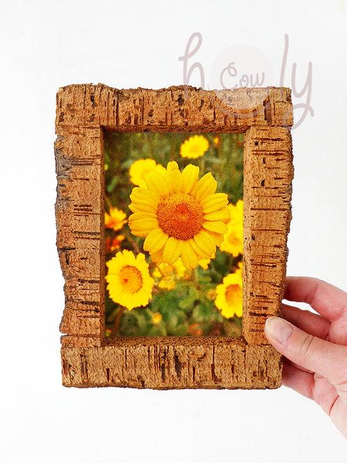 Natural Rustic Cork Wall Photo Frame
