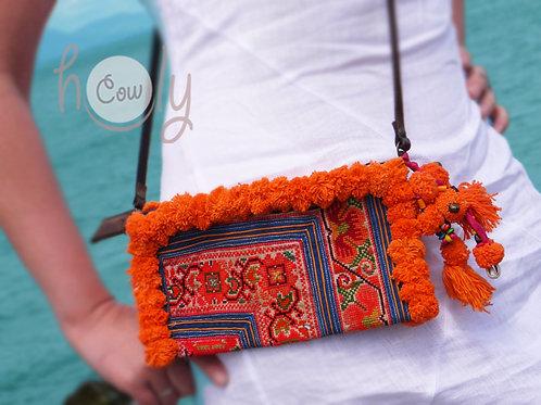 Orange Tribal Vintage Shoulder Bag