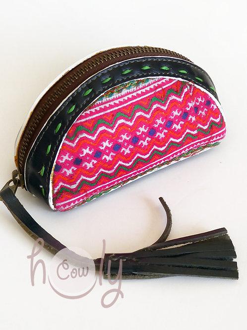 Black Leather Tribal Wallet