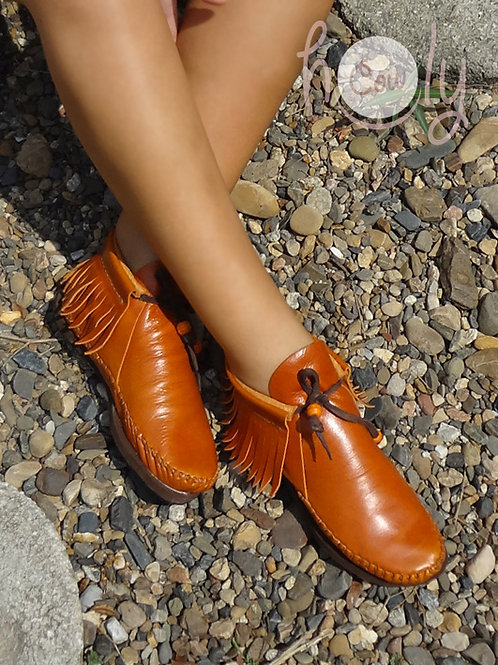 """""""Wild Whiskey"""" Leather Inca Boots"""