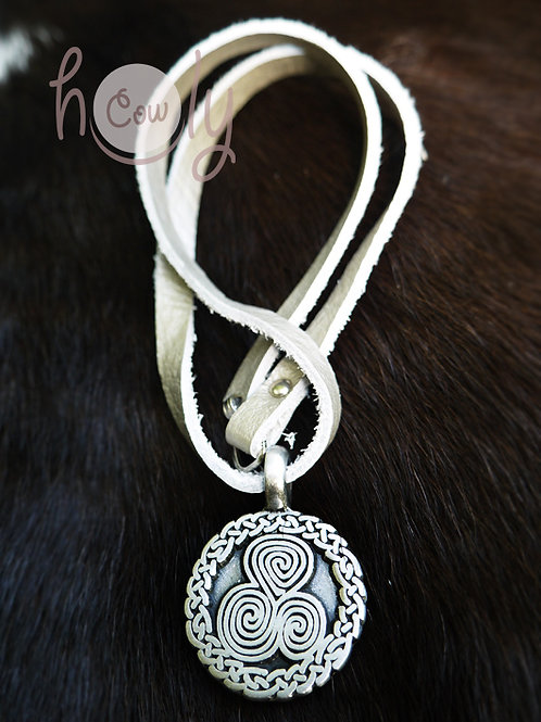 Necklace With Celtic Spiral Symbol