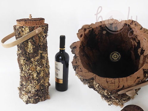 Natural Large Cork Bark Wine Holder