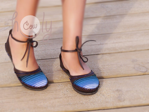 Brown Leather Serape Sandals