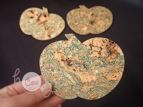 Set of 3 Handmade Apple Cork Coasters