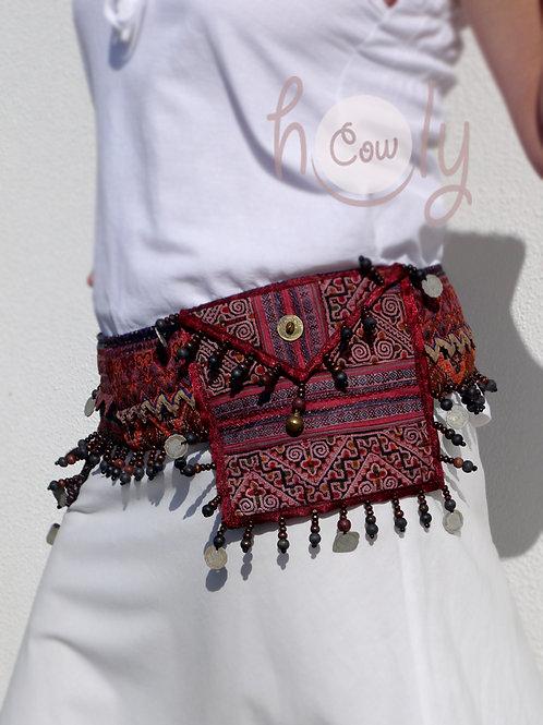 Vintage Hmong Tribal Belt Bag