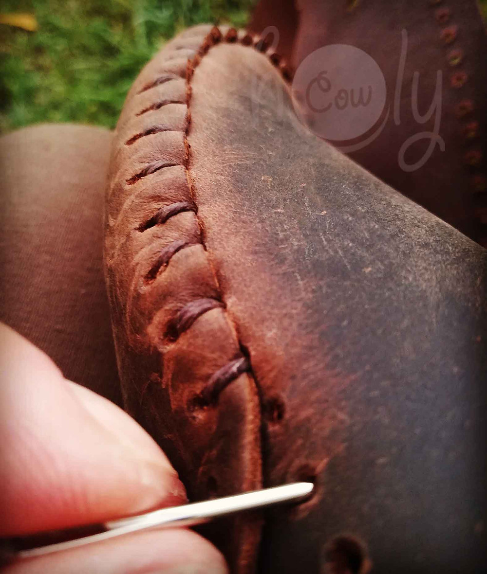 Handmade Brown Leather Soleless Moccasins
