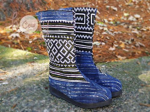 Blue Naga Tribal Vegan Boots