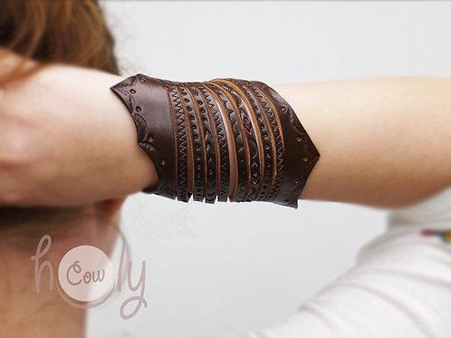 Brown Leather Crazy Boho Bracelet
