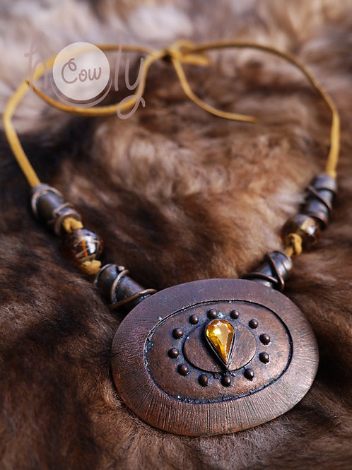 Boho Medieval Brown Necklace