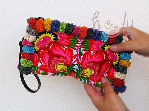 Colorful Tribal Vintage Wristlet Bag
