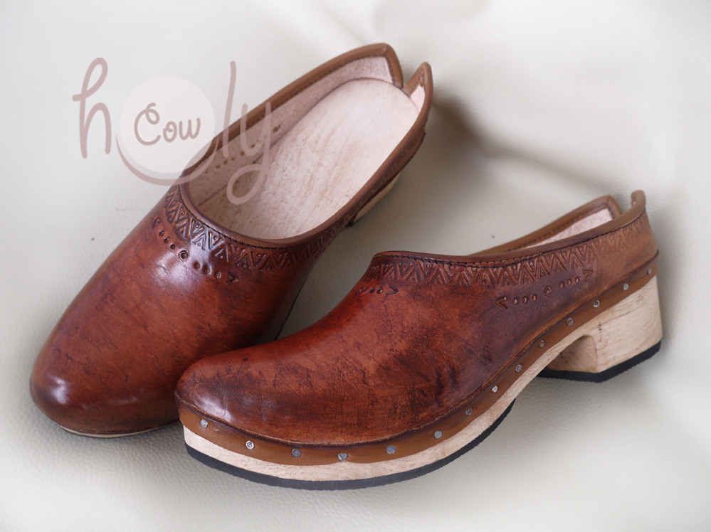 Handmade Leather Clogs