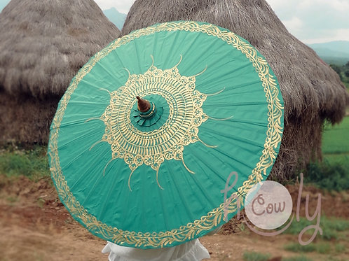 Turquoise Waterproof Parasol / Umbrella